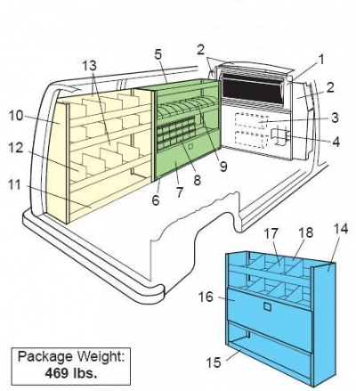Weather Guard - Van Interior - Plumber/HVAC Package - Ford/GM