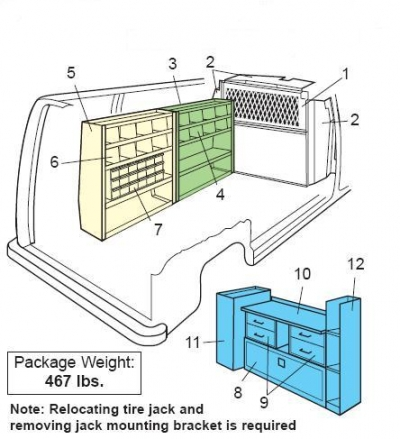 Weather Guard - Van Interior - General Service Package - Ford/GM