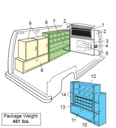 Weather Guard - Van Interior - CATV Package - Ford/GM